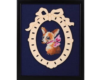 "RTO counted cross-stitch kit with plywood form ""Coquette"", MBE9016"