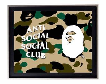 Bape x Anti Social Social Club Poster or Art Print (a bathing ape)