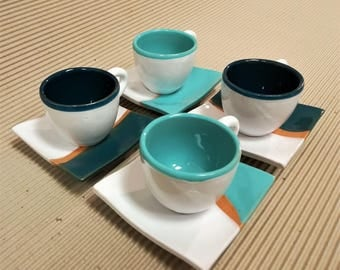 Coffee Cups two-tone