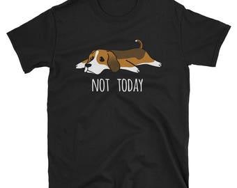 Funny Not Today Basset Hound T-Shirt, Cute Dog Gift Shirt
