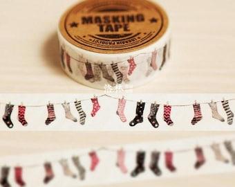 Cute socks Washi Tape Masking adhesive tape