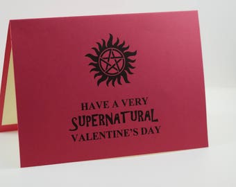 Supernatural Valentines Card, Valentines Day Card , Be My Valentine, Sam  And Dean Winchester