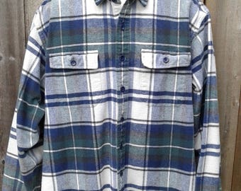 L.L.Bean mens cotton flannel shirt