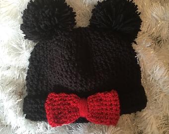 Mickey & Minnie Mouse Beanie