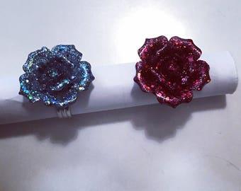 Pink Resin Rings