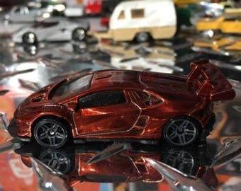 Custom Hot Wheels Lamborghini Huracan Lp 620-2 Super Chrome Red