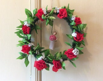 Abundance wreath with artificial roses