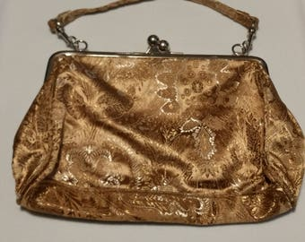 Victorian Style Hand Bag w/ Polished Nickel Clasp