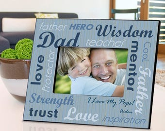 Personalized All-Star Dad Frame - Father's Day Gifts - Father's Day Photo Frames - Dad Photo Frames - Dad Picture Frame - Father Photo Frame