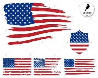 US flag svg, distressed flag svg, US flag clipart, american flag svg, USA flag, cricut silhouette – eps, dxf, png, pdf, svg – digital files