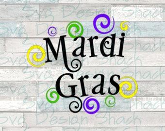 Mardi Gras Swirls SVG, DXF, EPS, Studio 3, Png