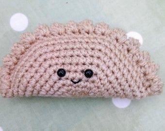 Cornish Pasty Crochet Amigurumi Kawaii Play Food