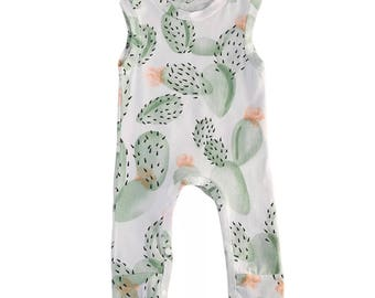 Cactus Illustrated Romper Outfit