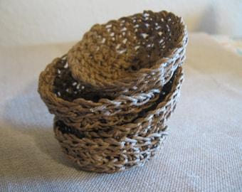 Jute Baskets Little set of 4 medium golden brown