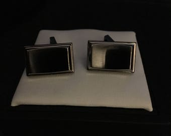 Kenneth Cole Stainless Steel and Hemetite Cufflinls