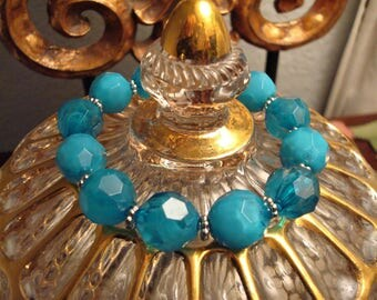 Totally Turquoise Hand Made Beaded Bracelet