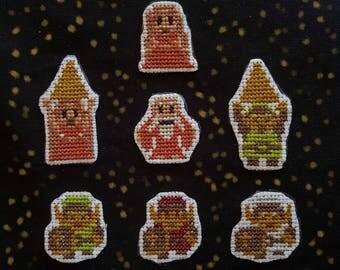 Original Zelda cross stitch patches
