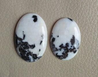 Black Zebra Jasper Oval Gemstone Excellent Quality 100% Natural 91 Carat, Black Zebra Jasper Cabochon, Size 40x28x7, 35x25x6 MM Approx.