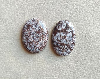 Natural Bronzite Jasper 02 Piece Gemstones, 86 Carat Natural Jasper Stones, Pendant Gemstones, Stone Size 35x24x7, 35x25x8 MM Approx.