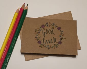 Handmade 'good luck' card