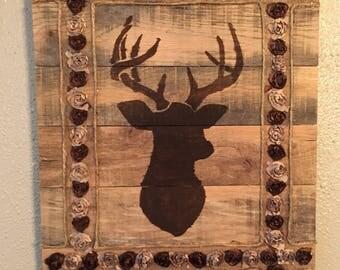 Deer wall decor