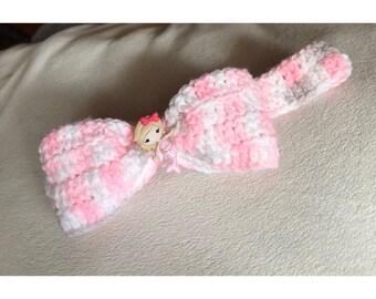 Crochet baby mermaid headband