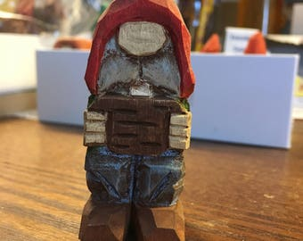 "Hand Crafted Carved Whittled Basswood ""Wood Chucked"" Character Figure"