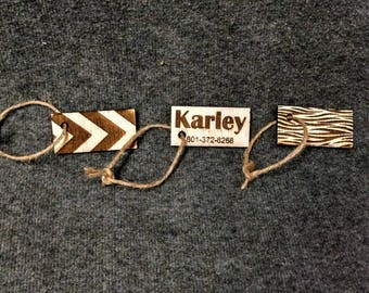 Custom Engraved Luggage Tags or Key Fobs