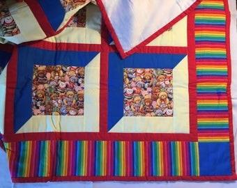 "Handmade Baby quilt - 42""x42"""