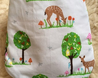 Daylong FinPin Baby bib- woodland doe