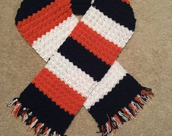 Crocheted scarves