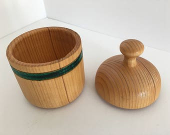 handturned lided wood box