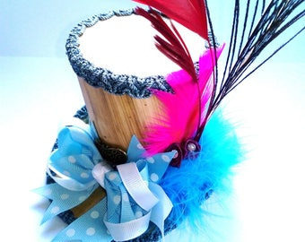 STEAMPUNK mini hat Mad Hatter Alice in Wonderland Lolita blue cosplay or display