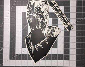 Black Panther car decal