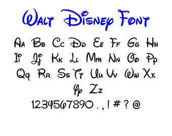 Walt disney svg,dxf Walt disney alphabet Walt disney letters for Design/Cricut/Silhouette and any more