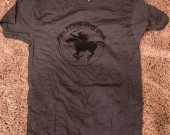 Neil Young Crazy Horse 2012 Tour T-Shirt Men's M NEW