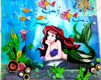 Mermaid quilling art