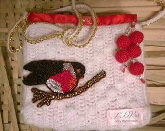 Snow handbag in red