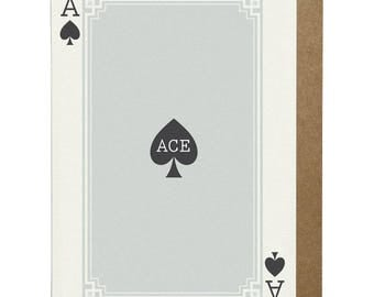Ace of Spades A6 Greeting Card