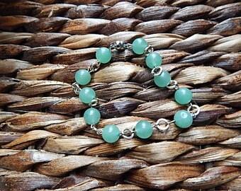 Green aventurine beaded bracelet.