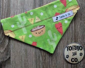 NEW!! Taco Tuesday// dog bandana// made to order//reversible//over the collar