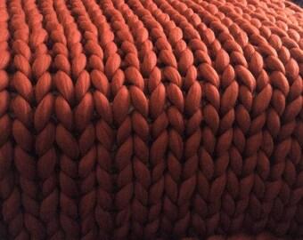 SUPER Chunky Merino Wool Blanket