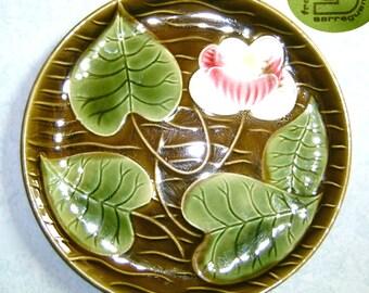 Green plate - Sarreguemines