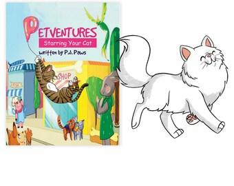 Personalized Book Persian cat, Persian cat Gift, Persian cat art, Persian cat mom, Persian cat dad, Persian cat book, Persian cat portrait
