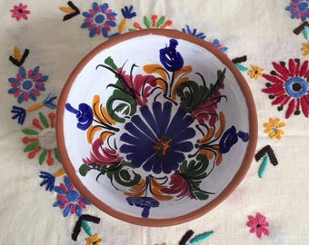 Beautiful Spanish hand-painted floral bowl
