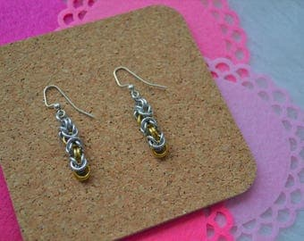 Byzantine Weave | Chainmaille Earrings