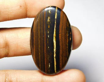 Rare ! Awesome quality Tiger iron gemstone Cabochons Tiger iron Excellent cabochons Designer Amazing loose gemstone 79.10cts (44x26x5)mm.