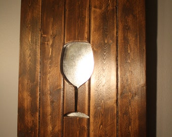 Wine Glass Wood Decor