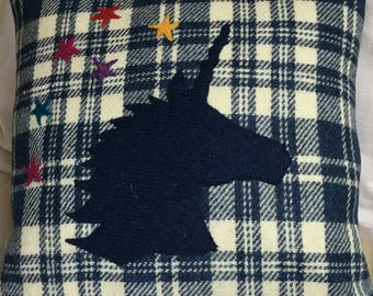Unicorn Harris Tweed Cushion
