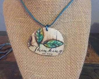 New Lens on Life - Thinking of You Leaf Necklace